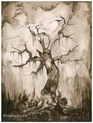 """Creepy Tree"" - 9.4""x12.6"""