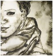 """Self Portrait"" - 6.3""x6.5"""