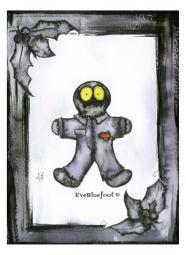 """""""Dead Gingerbread Walking"""" - 4.7""""x6.3"""""""