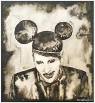 """Marilyn Manson"" - 9.4""x8.3"""