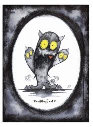 """Creepy Cute Monsters"" - 4.7""x6.3"