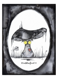 """Spooky Mushroom"" - 4.7""x6.3"