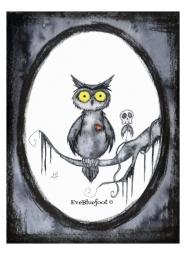 """Owl"" - 4.7""x6.3"