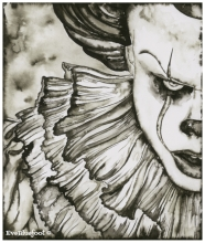 """Pennywise"" - 7.5""x9"""
