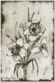 """""""Poisonous Flower Bouquet"""" - 6.3""""x9.4"""""""