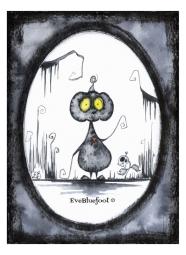"""Gloomy Pumpkin"" - 4.7""x6.3"