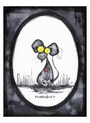 """""""Cute Rat"""" - 4.7""""x6.3"""