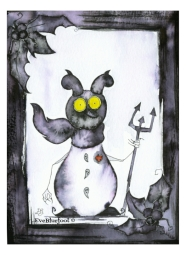 """""""Snowman From Hell"""" - 4.7""""x6.3"""""""