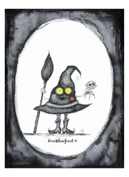 """""""Whimsical Witch"""" - 4.7""""x6.3"""
